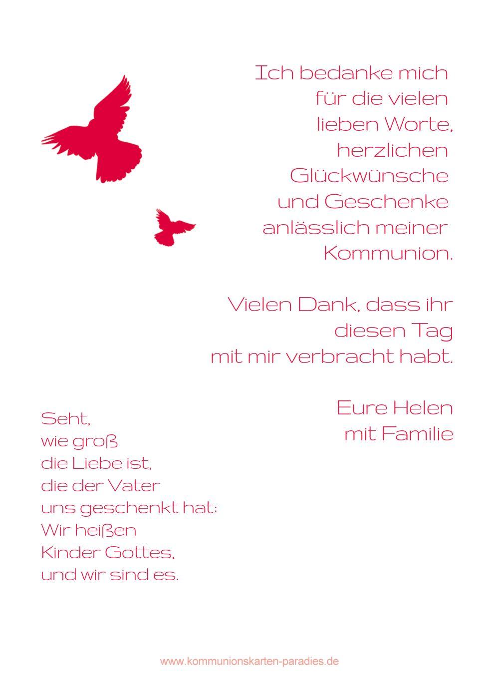 Ansicht 3 - Kommunion Dankeskarte Taube
