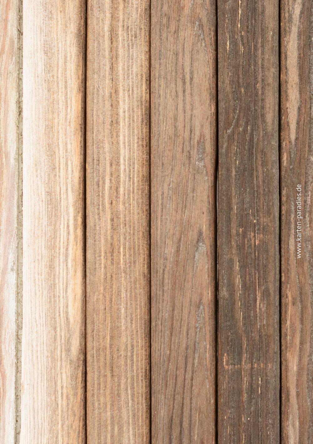 Ansicht 2 - Hochzeit Einladung Vintage Holz