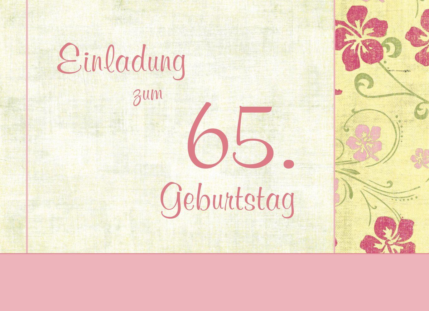 Ansicht 3 - Einladung zum Geburtstag Foto Hibiskus 65