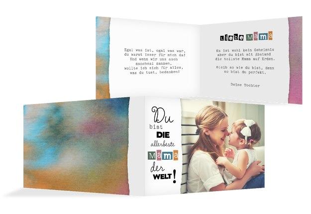 Muttertagskarte Farbenfroh