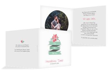 Hochzeit Dankeskarte Du & Ich
