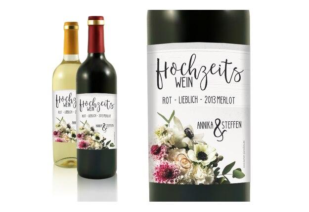 Flaschenetikett Bouquet