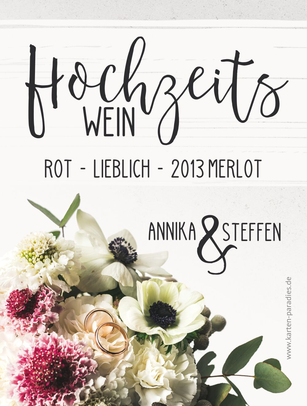 Ansicht 2 - Flaschenetikett Bouquet