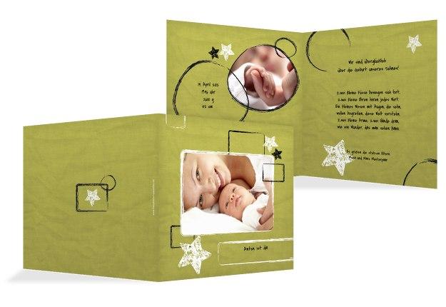 Babykarte Kreidepapier
