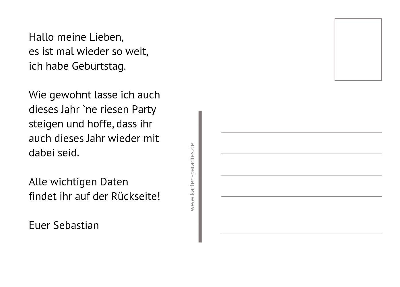 Ansicht 3 - Einladung Partyeinladungsbescheinigung
