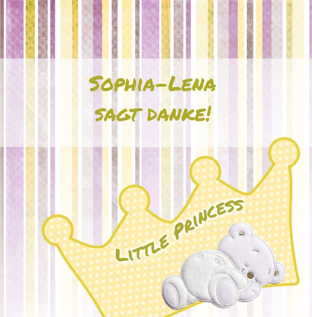 Ansicht 3 - Baby Dankeskarte Krone