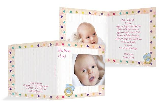 Babykarte Smarties
