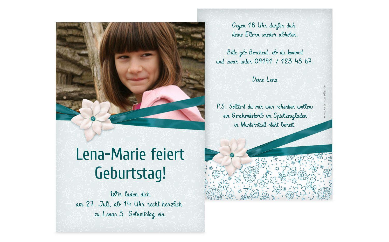 Einladung zum Kindergeburtstag Foto Jasmin