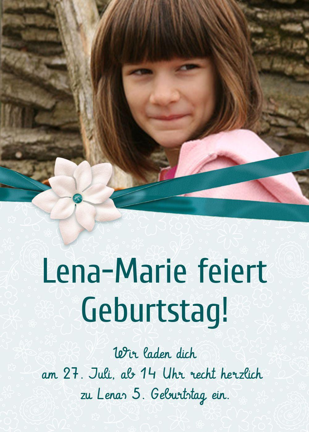 Ansicht 2 - Einladung zum Kindergeburtstag Foto Jasmin