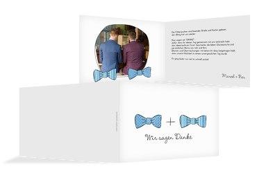 Hochzeit Dankeskarte Fliegen