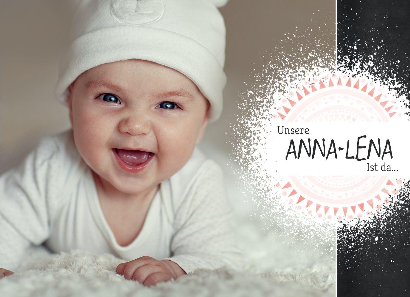 Ansicht 3 - Babykarte Mandala