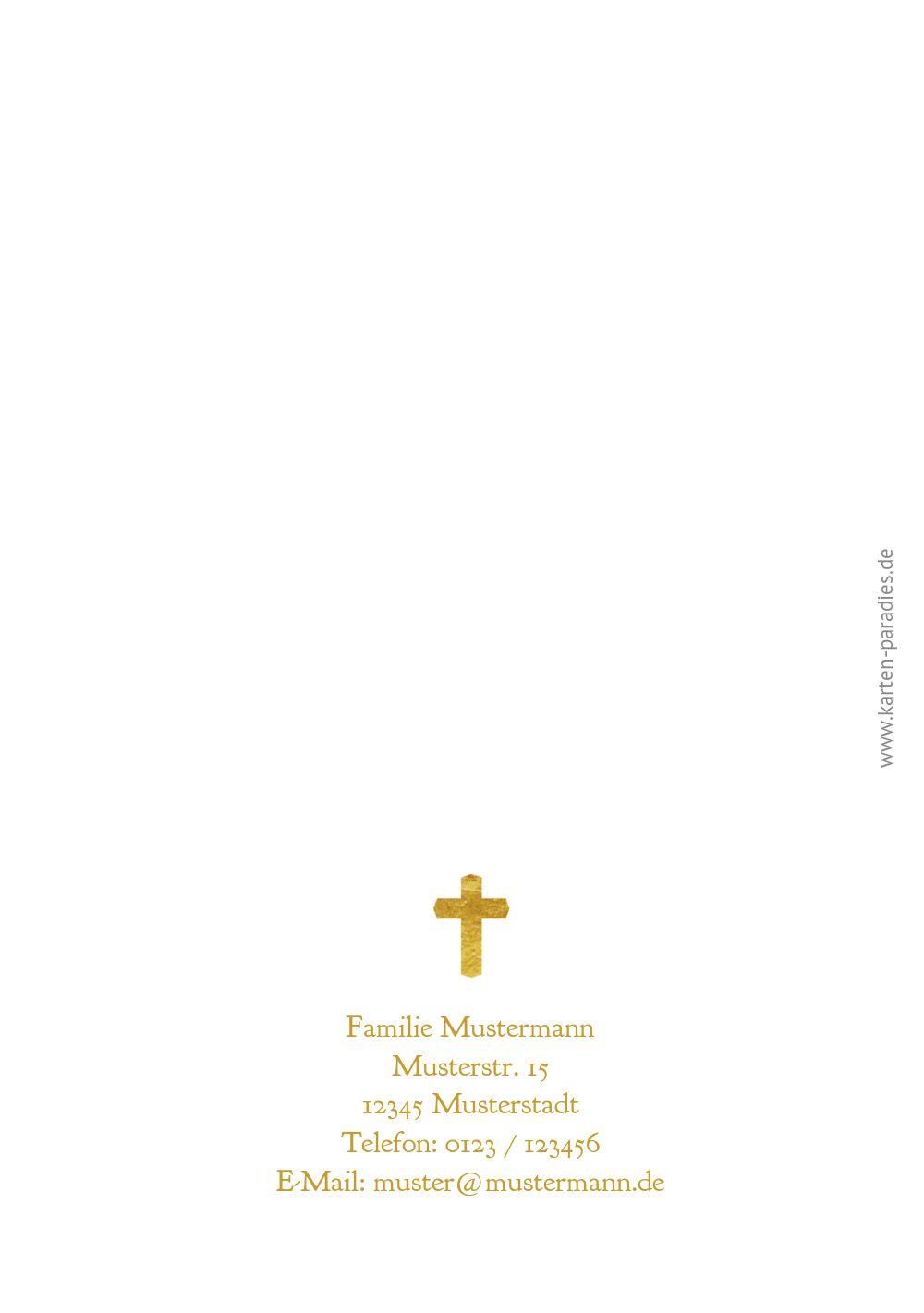 Ansicht 2 - Kommunion Einladung Goldrausch