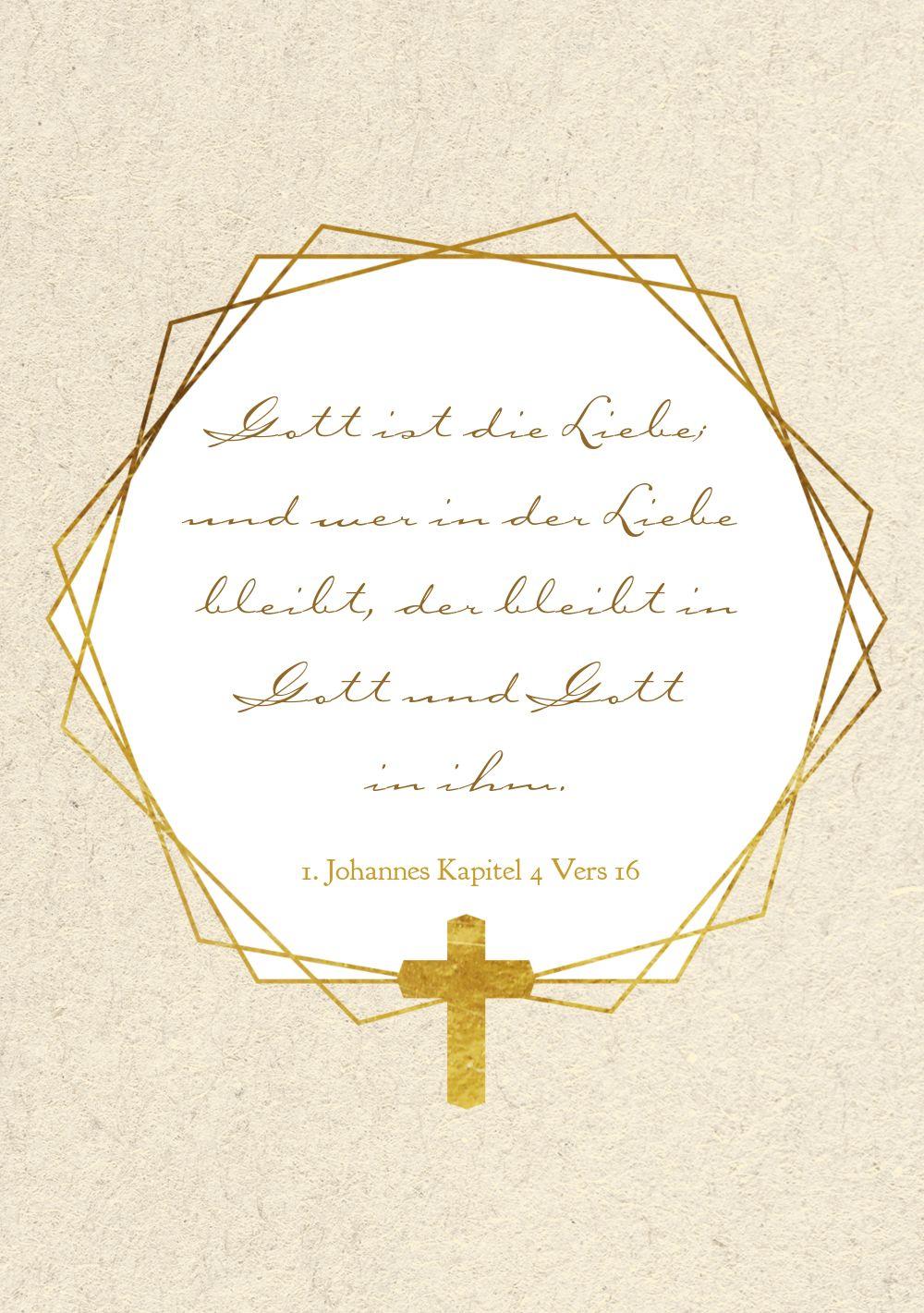 Ansicht 4 - Kommunion Einladung Goldrausch