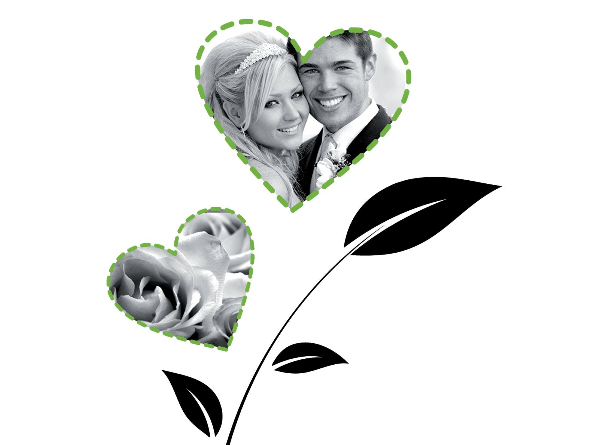 Ansicht 6 - Hochzeit Dankeskarte Herzblume