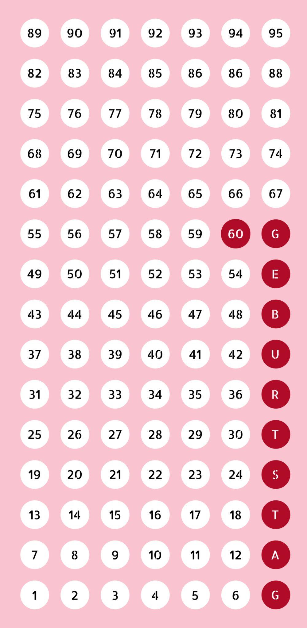Ansicht 3 - Geburtstagseinladung Zahlenspiel 60