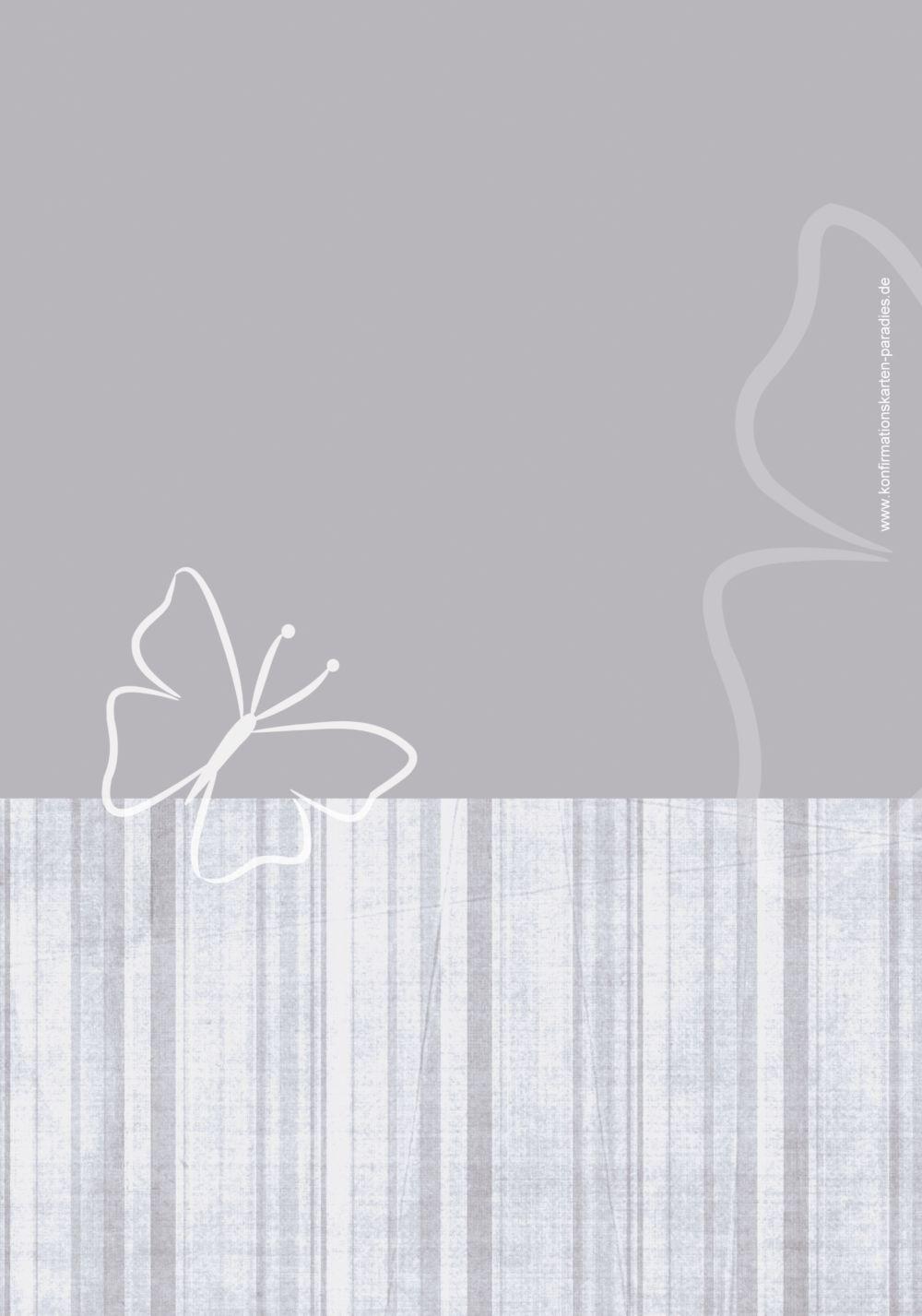 Ansicht 2 - Menükarte Konfirmation Butterfly 2
