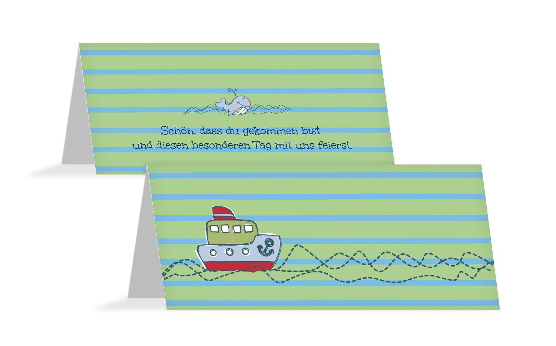 Taufe Tischkarte Meer