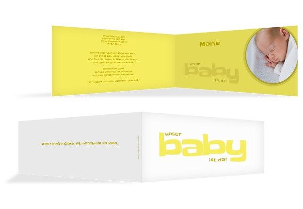 Baby Dankeskarte Baby