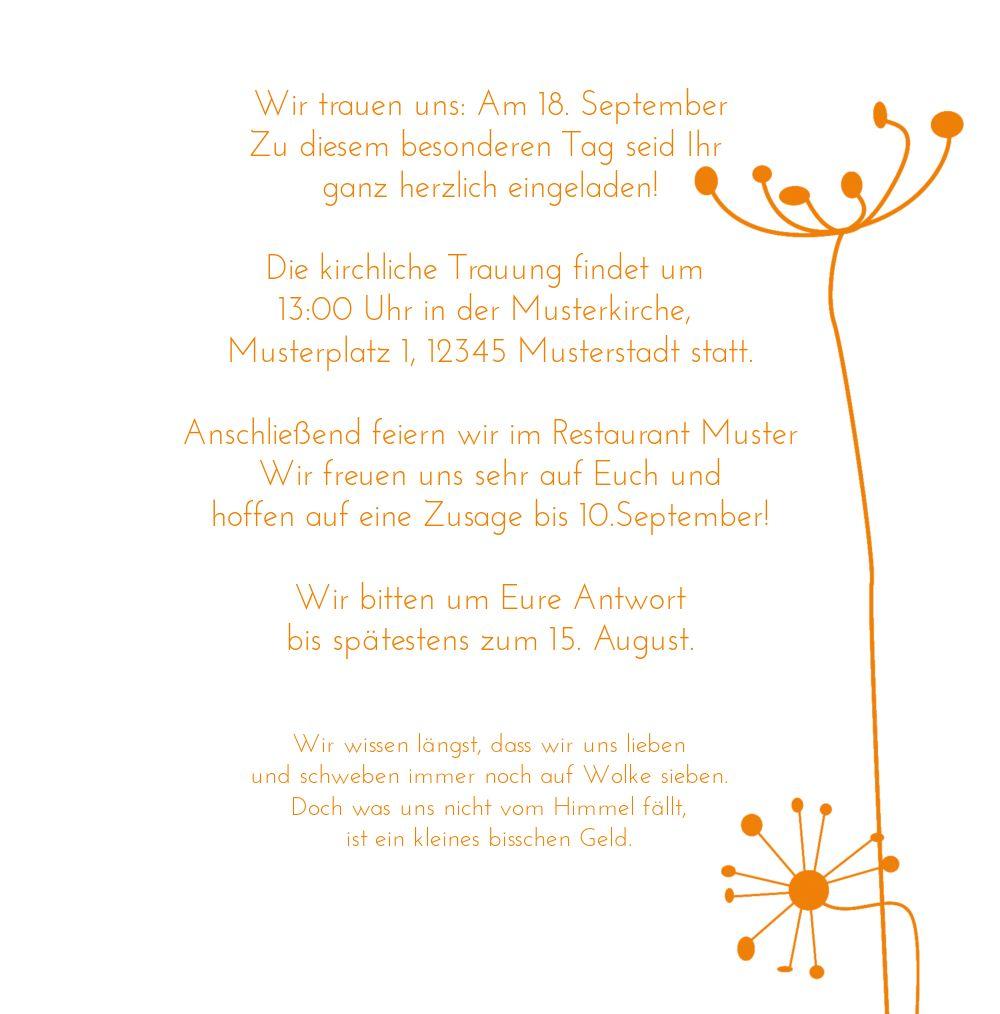 Ansicht 5 - Hochzeit Einladung abstrakte Blumen