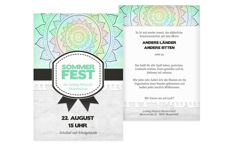 Einladung Sommerfest Psychedelic