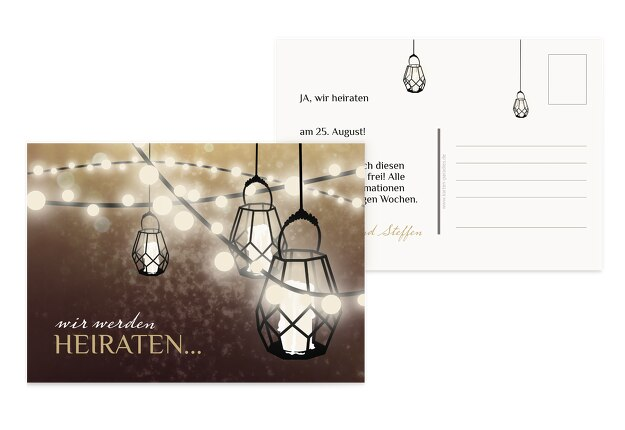Save-the-Date Vintage Laterne