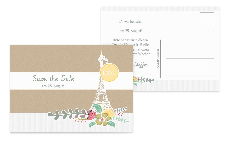 Save-the-Date Paris