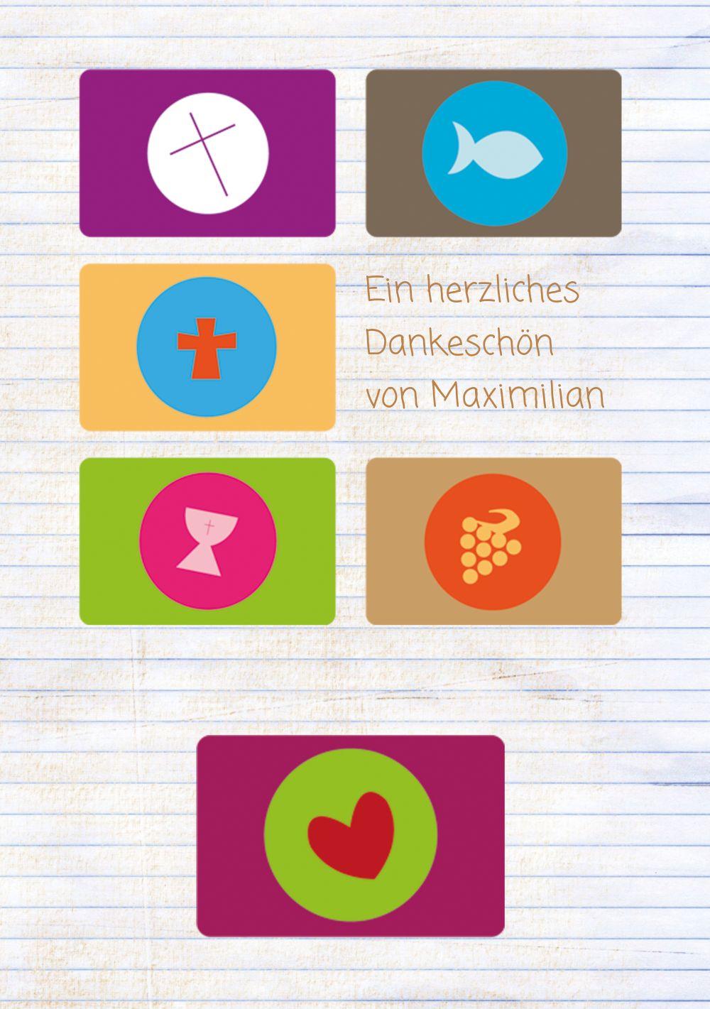 Ansicht 3 - Konfirmation Dankeskarte buttons