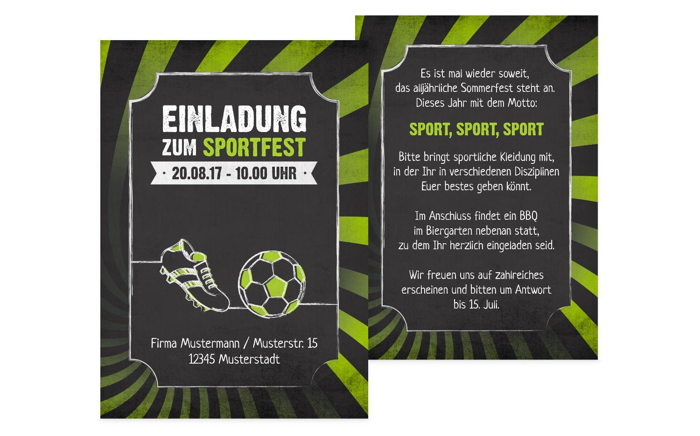 Einladung Sommerfest Retro Sport