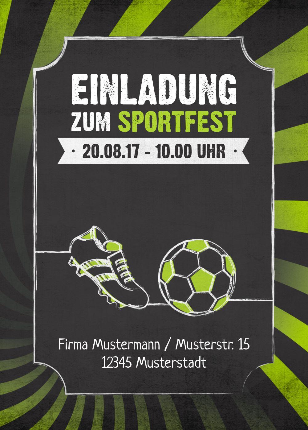 Ansicht 2 - Einladung Sommerfest Retro Sport