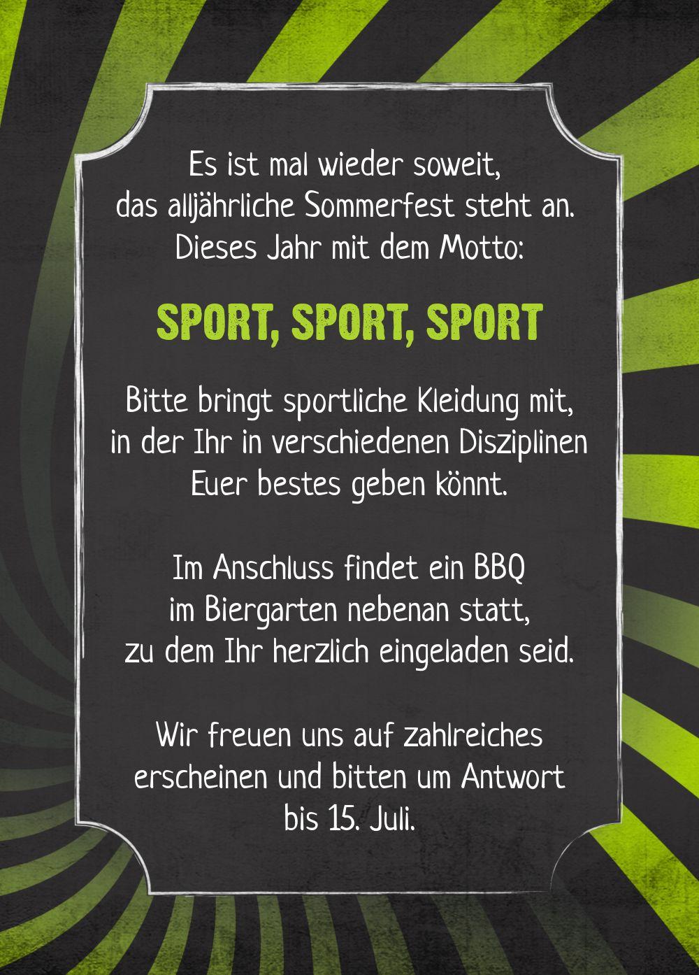 Ansicht 3 - Einladung Sommerfest Retro Sport