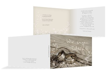 Hochzeit Dankeskarte Eheringe 2