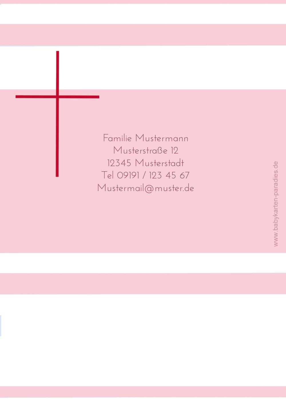 Ansicht 2 - Kommunion Dankeskarte Kreuz