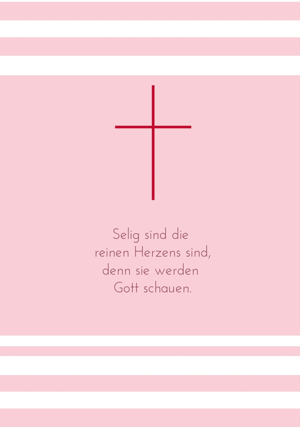 Ansicht 4 - Kommunion Dankeskarte Kreuz