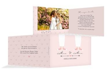Hochzeit Dankeskarte Pärchen - Frauen
