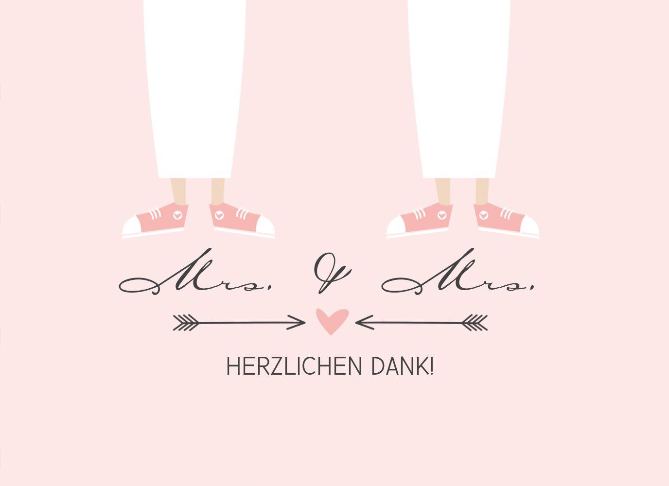 Ansicht 3 - Hochzeit Dankeskarte Pärchen - Frauen