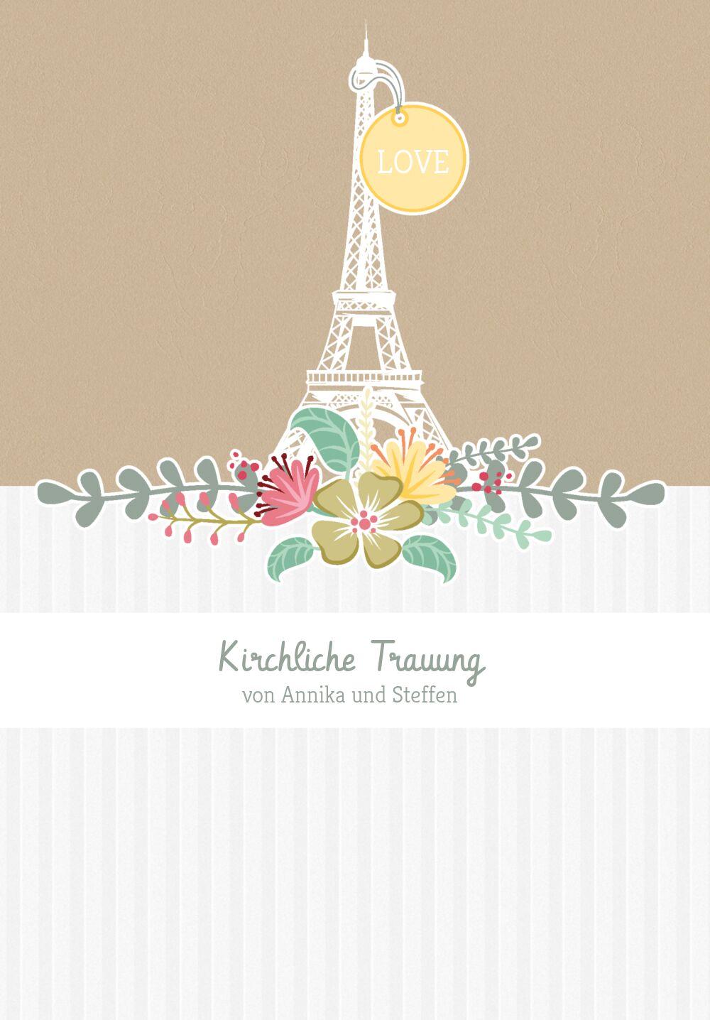 Ansicht 3 - Kirchenheft Umschlag Paris