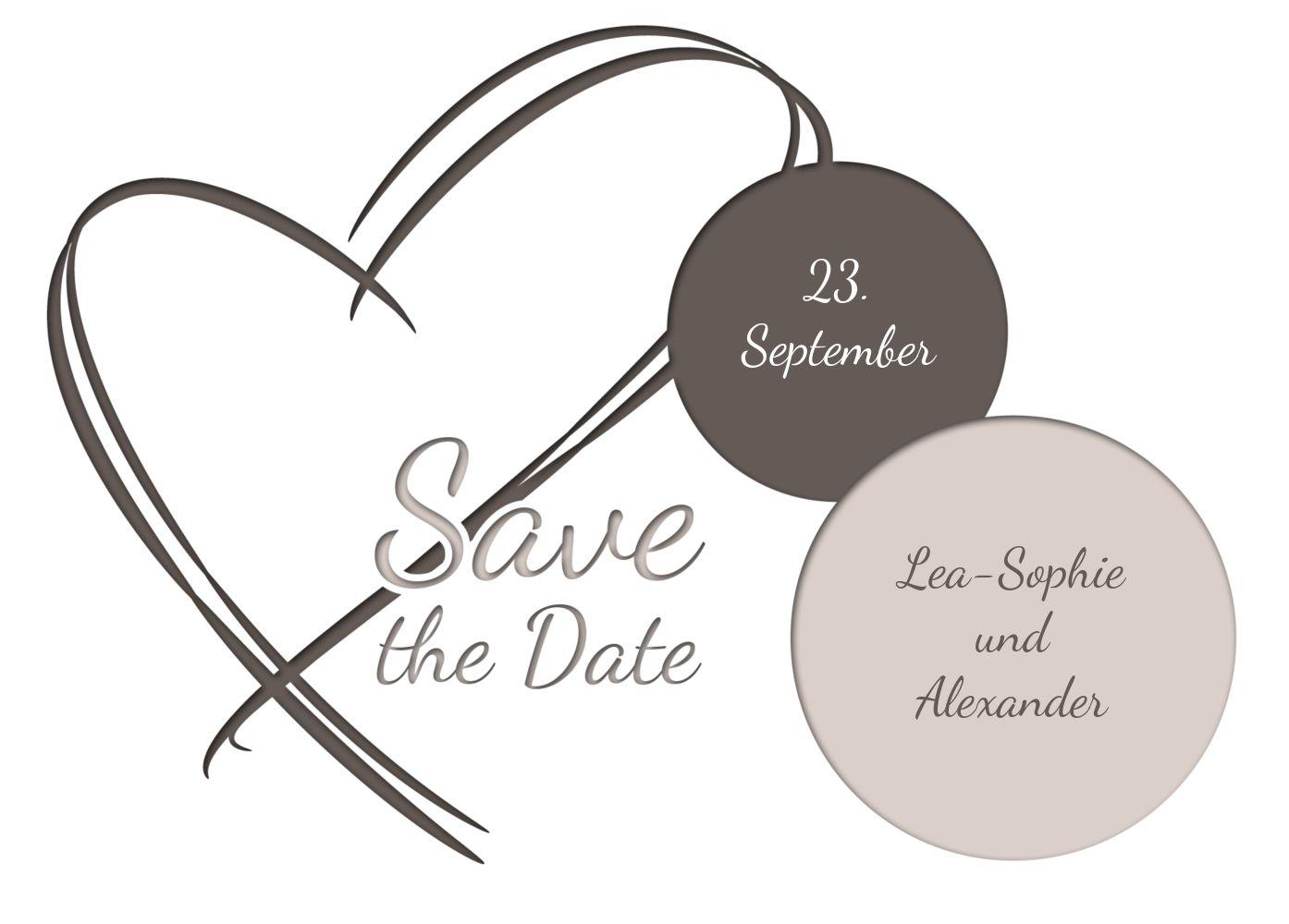 Ansicht 2 - Hochzeit Save-the-Date Doppelherz