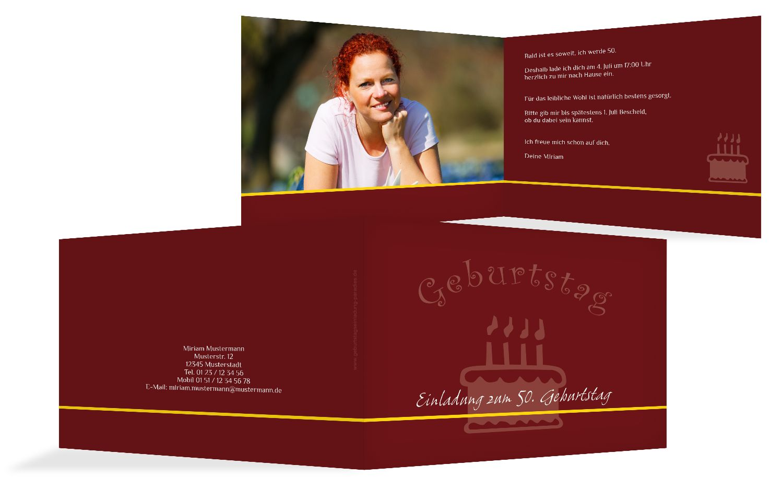 Einladung colour-contrasting 50 Foto