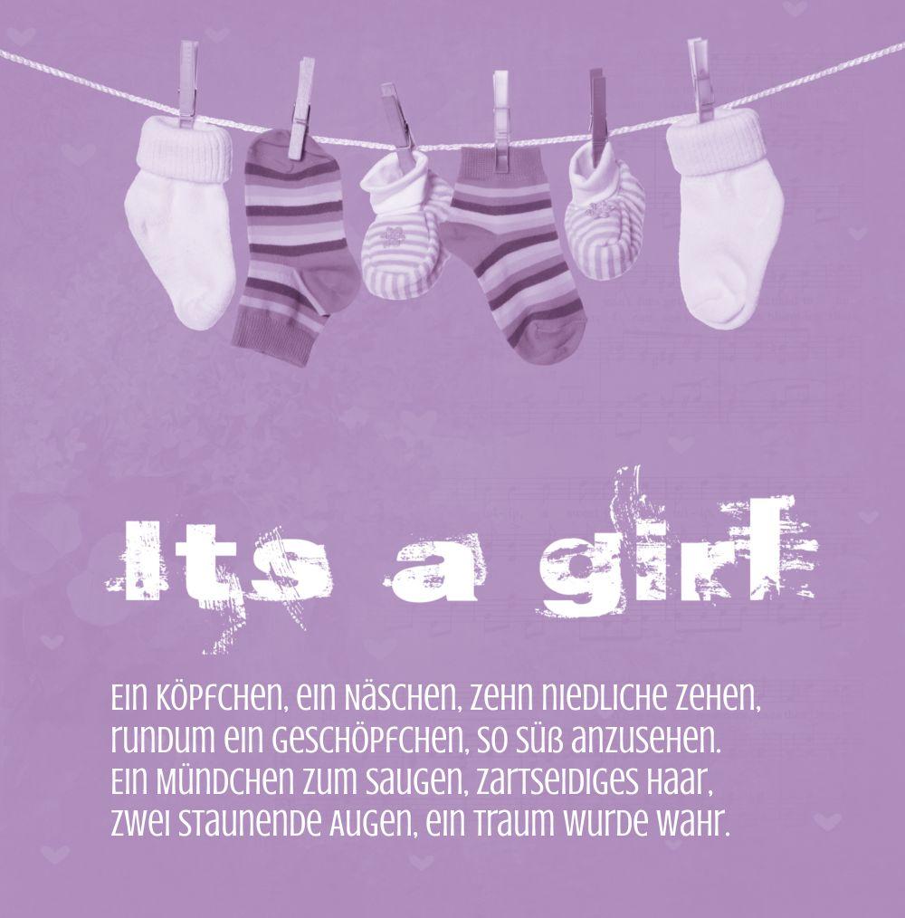 Ansicht 3 - Babykarte It's a girl