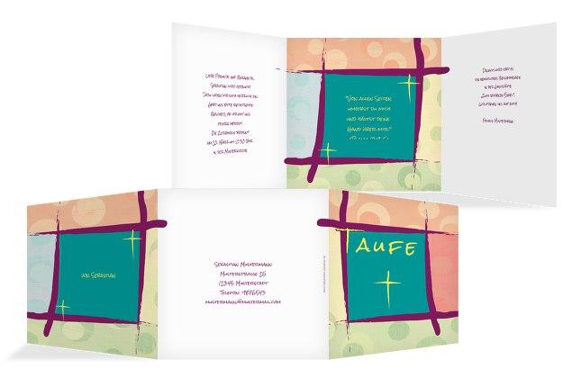 Taufkarte Kreuzrahmen