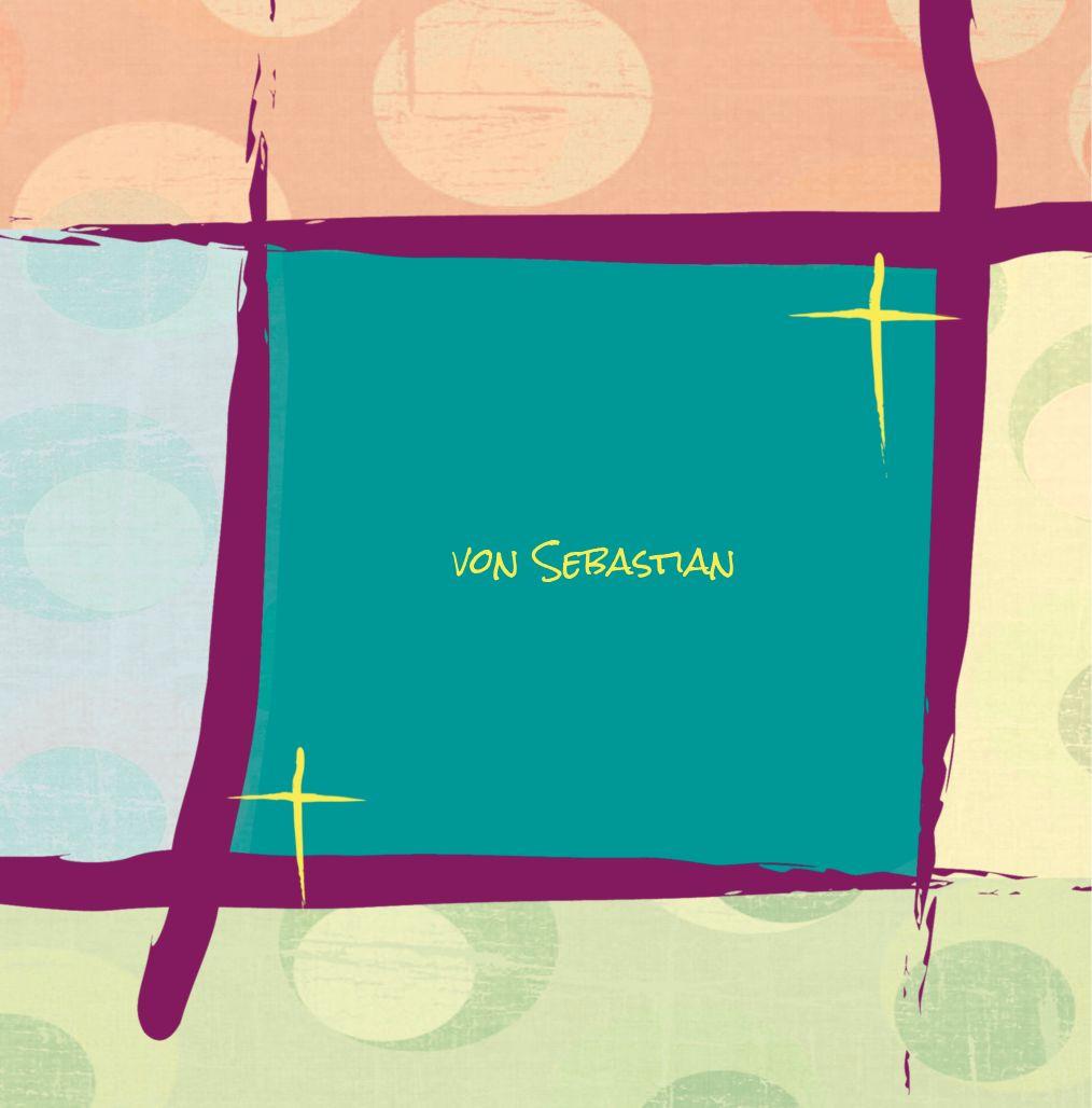 Ansicht 2 - Taufkarte Kreuzrahmen