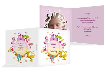 Einladungskarte Foto Traumprinzessin