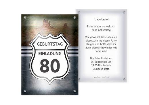 Einladung zum 80