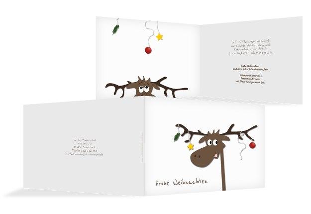 Grußkarte Elch