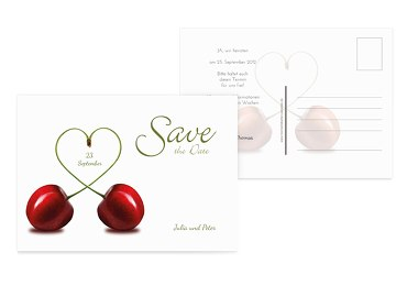 Save-the-Date Kirsche