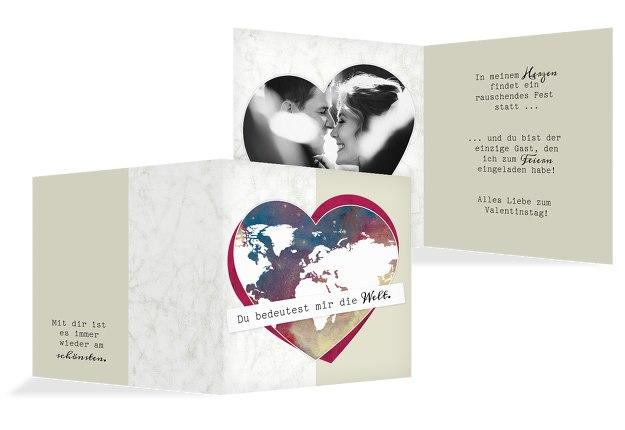 Valentinskarte Meine Welt