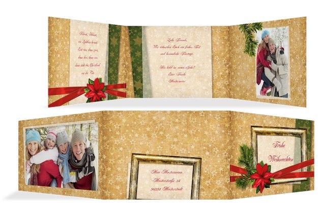 Foto Grußkarte Goldenes Geschenk