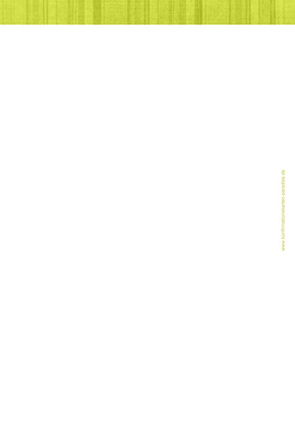 Ansicht 2 - Menükarte zur Konfirmation White