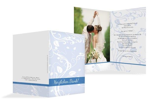 Hochzeit Dankeskarte Blättertraum