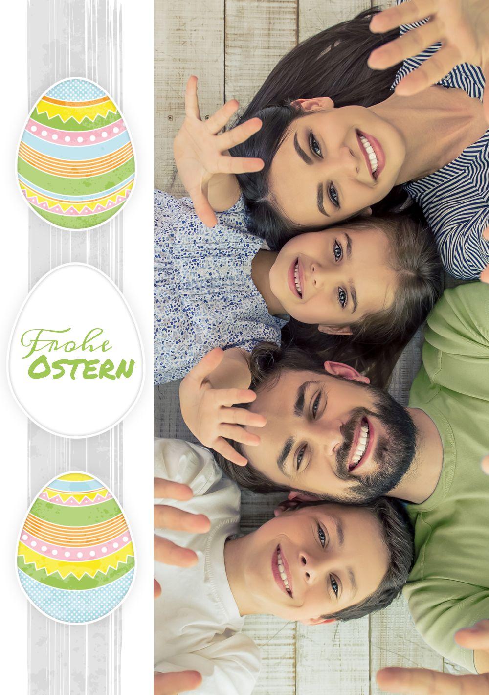 Ansicht 3 - Osterkarte bunte Ostereier